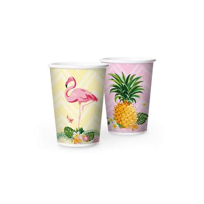 Copo-de-Papel-Regina-180ml-com-12-Unidades-Flamingo