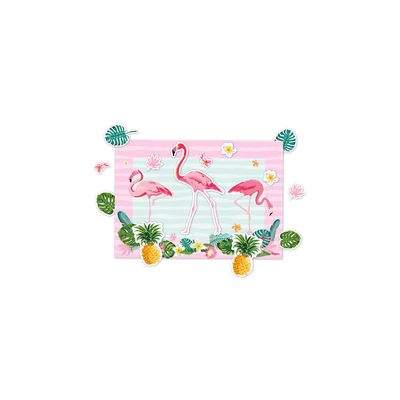 Kit-Decorativo-com-Aplique-Regina-Flamingo-com-12-Unidades