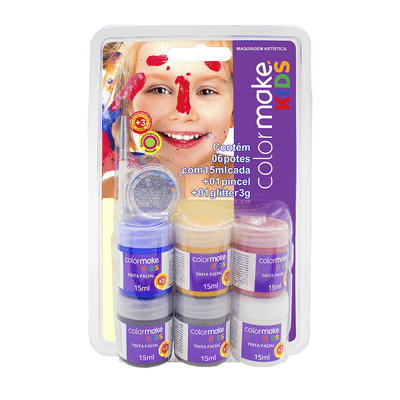 Ki-Tinta-Facial-Colormake-Kids-Gliter-com-6-Cores-15ml-e-Pincel