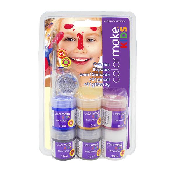 Ki-Tinta-Facial-Colormake-Kids-Gliter-com-6-Cores-15ml-e-Pincel