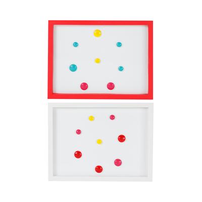 Quadro-Magnetico-Branco-Le-com-8-Imas-coloridos-Moldura-Cores-Diversas-40x30cm