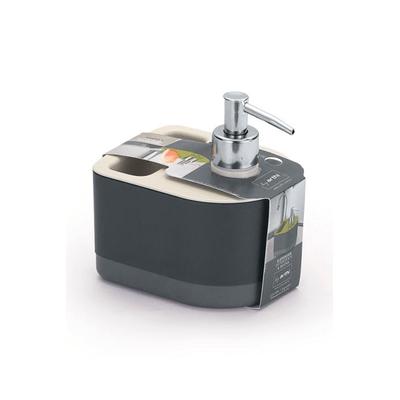 Dispenser-para-Detergente-e-Bucha-Arthi-Cinza