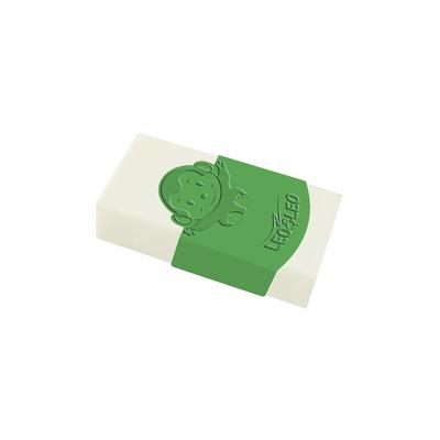 Borracha-Leonora-Branca-Capa-Plastica-Verde-com-2-Unidades