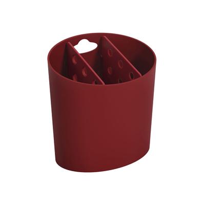 Escorredor-de-Talheres-Coza-Oval-Basic-Vermelho