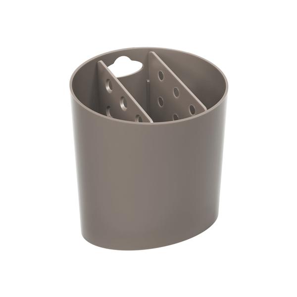 Escorredor-de-Talheres-Coza-Oval-Basic-Cinza
