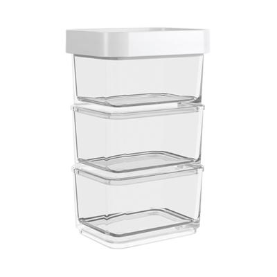 Conjunto-de-Potes-Clear-Coza-Micro-100ml-Branco-com-3-Pecas