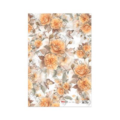 Papel-para-Decoupage-Opa-30x45-Rosas-Amarelas