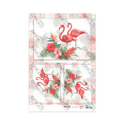 Papel-para-Decoupage-Opa-30x45-Flamingos