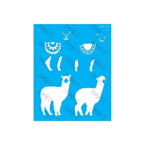 Stencil-Opa-20x25-Animais-Lhama-Ii-2600