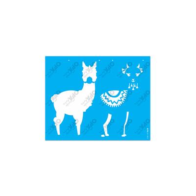 Stencil-Opa-20x25-Animais-Lhama-I-2580