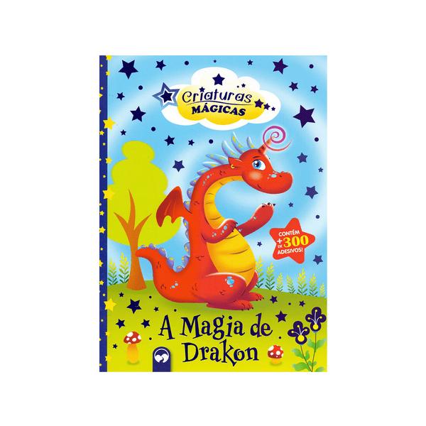 Livro-Infantil-Criaturas-Magicas-A-Magia-de-Drakon-com-Adesivo-e-Mascara