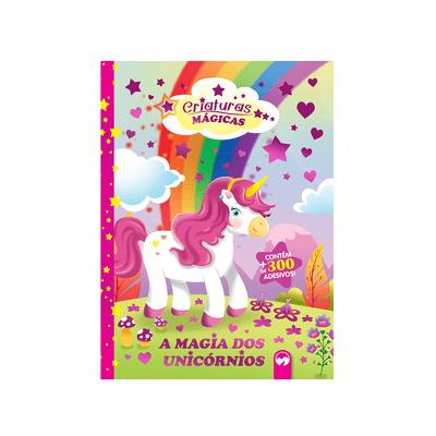 Livro-Infantil-Criaturas-Magicas-A-Magia-dos-Unicornios-com-Adesivo-e-Mascara