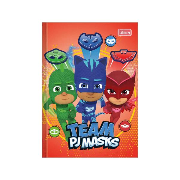 Caderno-Tilibra-Brochura-Capa-Dura-1-4-PJ-Masks-80-Folhas-Capas-Diversas