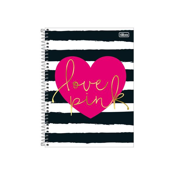 Caderno-Tilibra-Espiral-Capa-Dura-1-4-Love-Pink-80-Folhas-Capas-Diversas