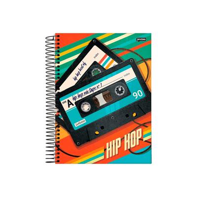 Caderno-Universitario-Jandaia-Espiral-Capa-Dura-Hip-Hop-15-Materias-Capas-Diversas