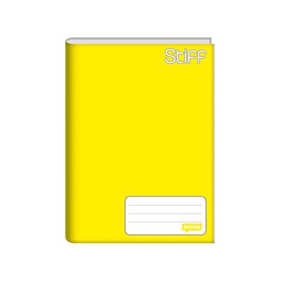 Caderno-Jandaia-Brochura-Capa-Dura-1-4-Amarelo-96-Folhas