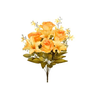 Bouquet-Rosa-e-Lirio-Grillo-com-12-Flores-Cores-Diversas