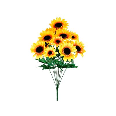 Bouquet-Girassol-Grillo-Cetim-com-12-Flores-Cores-Diversas