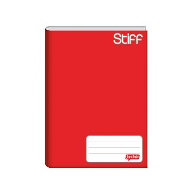 Caderno-Jandaia-Brochura-Capa-Dura-1-4-Vermelho96-Folhas