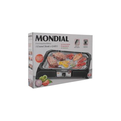Churrasqueira-Eletrica-Mondial-CH05-Preta-220V