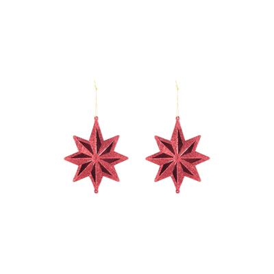 Enfeite-para-Arvore-de-Natal-Le-Estrela-Gliter-com-2-Unidades-Vermelho