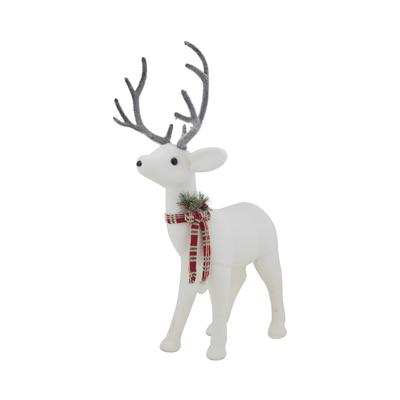 Rena-de-Natal-Le-com-Laco-61cm-Branca