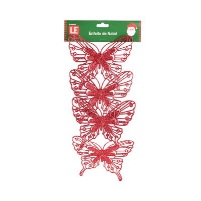 Kit-de-Borboleta-Natalinas-Le-Clip-com-4-Unidades-Vermelho