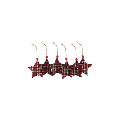 Enfeite-para-Arvore-de-Natal-Le-Feltro-Xadrez-9cm-com-6-Unidades