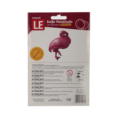 Balao-Metalizado-Le-40cm-Flamingo