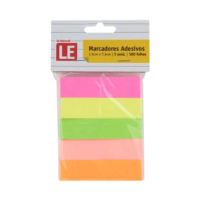 Marcador-de-Pagina-Le-Neon-com-5-Blocos-Adesivos-Colorido