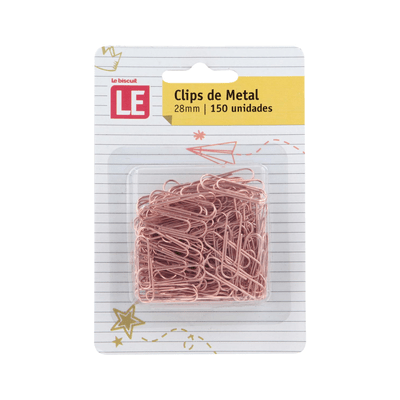 Clip-Metalico-Le-Rose-28mm-com-150-Unidades