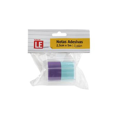Bloco-Adesivo-Le-Azul-e-Lilas-25x5cm-com-2-Unidades