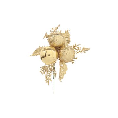 Pick-Natalino-Grillo-Bola-Natalina-X6-Folhas-Douradas