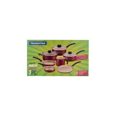 Conjunto-de-Panelas-Tramontina-Turim-Antiaderente-Vermelho-com-7-Pecas