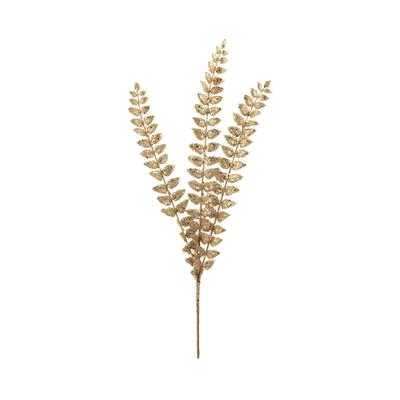Haste-Natalina-Folha-Grillo-com-Glitter-X3-Dourado