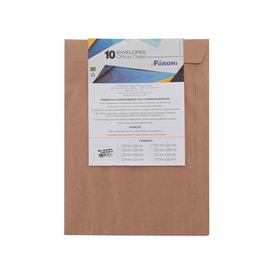 Envelope-Saco-Foroni-Kraft-Natural-240x340mm-com-10-Unidades