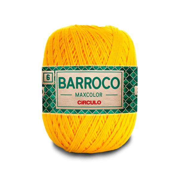 Barbante-Barroco-Maxcolor-226m-Nº4-6-1289-Amarelo-Canario
