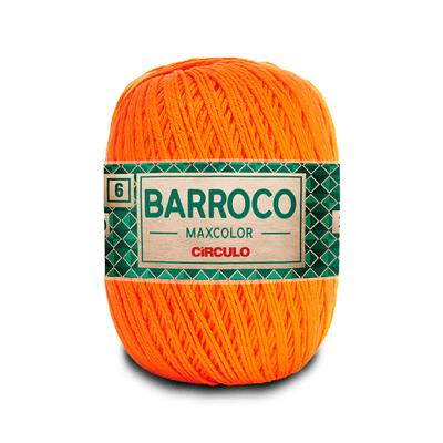 Barbante-Barroco-Maxcolor-226m-Nº4-6-4456-Laranja
