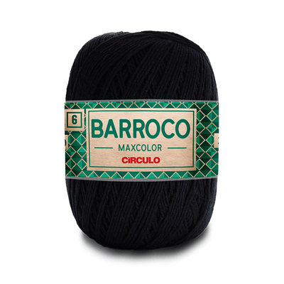 Barbante-Barroco-Maxcolor-226m-Nº4-6-8990-Preto
