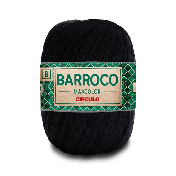 Barbante-Barroco-Maxcolor-226m-Nº4-6-8990-Preto