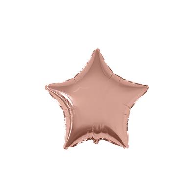 Balao-Flexmetal-Metalizado-Estrela-20-Rose--