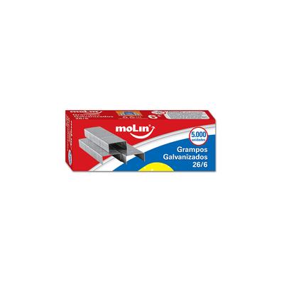 Grampos-Molin-Nº26-06-Galvanizados-com-5000-Unidades