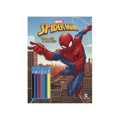 Livro-Infantil-Culturama-Homem-Aranha-Ler-e-Colorir-com-Lapis-de-Cor