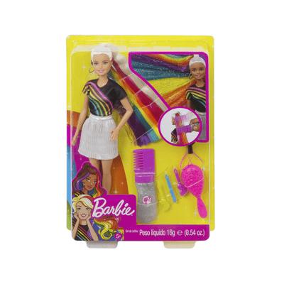 Boneca-Barbie-Penteado-de-Arco-Iris