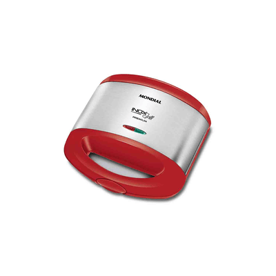 Sanduicheira-Mondial-Inox-Red-S19-Vermelha-220V