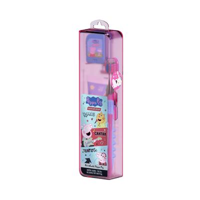 Kit-Dentalcelan-Infantil-Pepa-Pig-com-Escova-Dental.-Creme-Dental-e-Fio-Dental