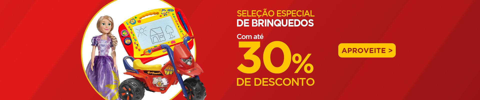 Brinquedos - 30% - 15/12