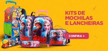 Volta as Aulas - Kit mochila lancheira